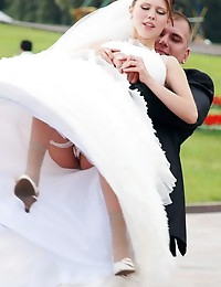 Hot Bride upskirt