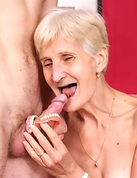 Blonde Granny Dicked